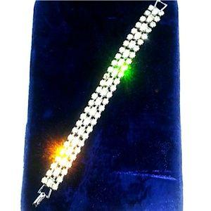 '40s-'50s VTG WEISS Baguette Rhinestone Bracelet